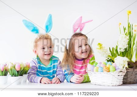 Kids Celebrating Easter At Home