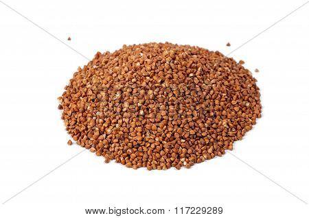 Buckwheat Isolated On White Backgrounds