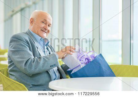 Mature man waiting for meeting.