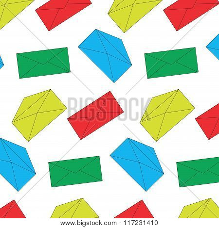 Envelope Mail Color Pattern Seamless
