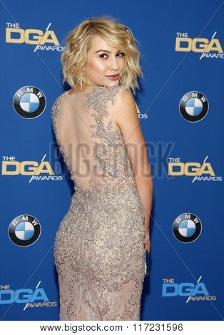 Chelsea Kane at the 68th Annual Directors Guild Of America Awards held at the Hyatt Regency Century Plaza in Los Angeles, USA on February 6, 2016.