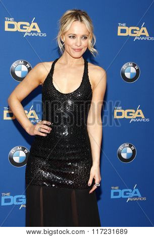 Rachel McAdams at the 68th Annual Directors Guild Of America Awards held at the Hyatt Regency Century Plaza in Los Angeles, USA on February 6, 2016.