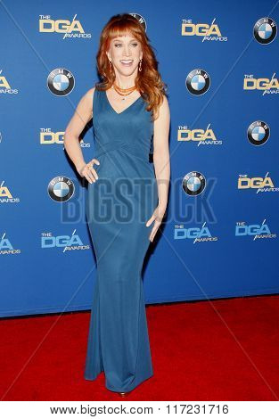 Kathy Griffin at the 68th Annual Directors Guild Of America Awards held at the Hyatt Regency Century Plaza in Los Angeles, USA on February 6, 2016.