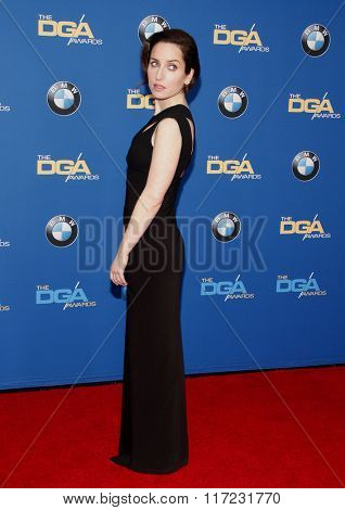 Zoe Lister-Jones at the 68th Annual Directors Guild Of America Awards held at the Hyatt Regency Century Plaza in Los Angeles, USA on February 6, 2016.