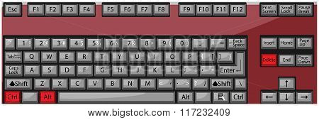 Combination Button Keyboard Ctrl Alt Delete