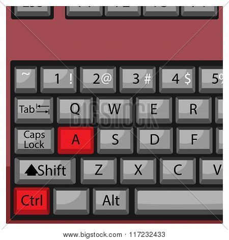Combination Keyboard Ctrl A