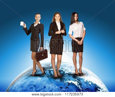 Business ladies on earth