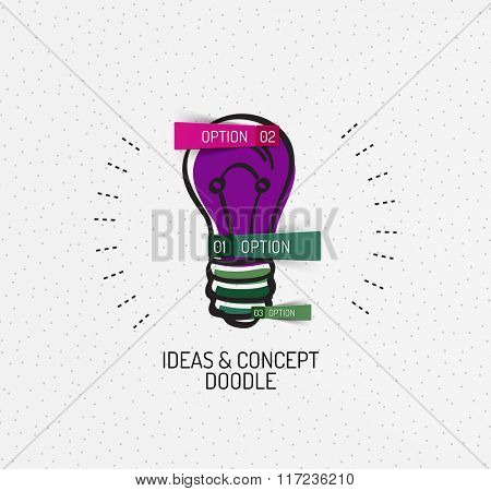 Vector multicolored hand-drawn doodles, icon, stamp