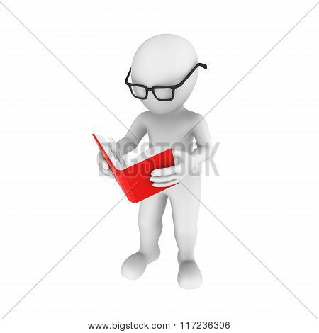 3D Human Reads The Book