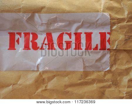 Fragile Label On Packet