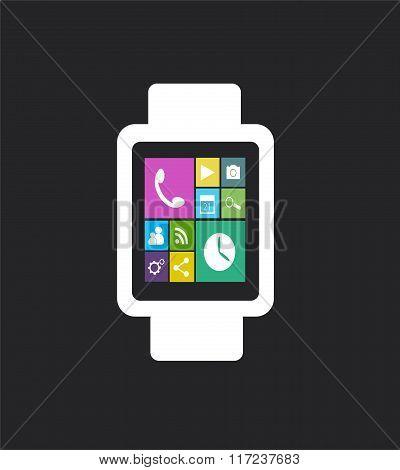 flat Smart watch