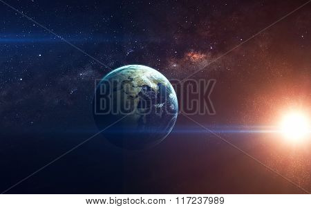 Beauty of planet Earth Infinite space with nebulas and stars. This image elements furnished by NASA