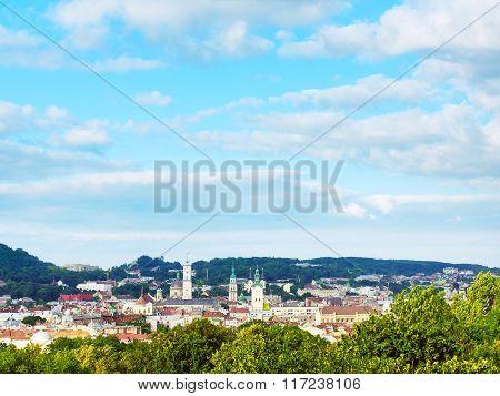 High Angle View Lviv