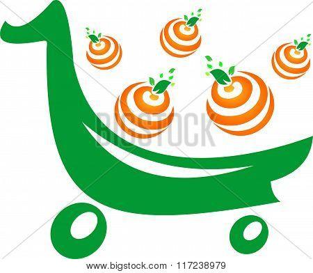 stock logo market fruits