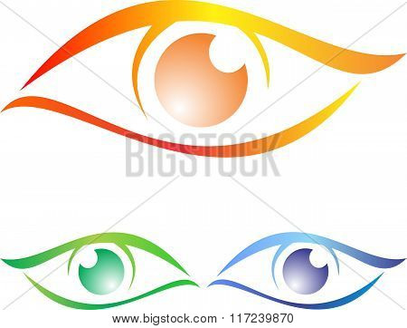 stock logo the eyes
