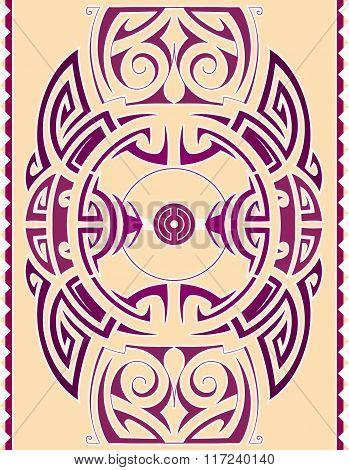 Ethnic ornament as design element