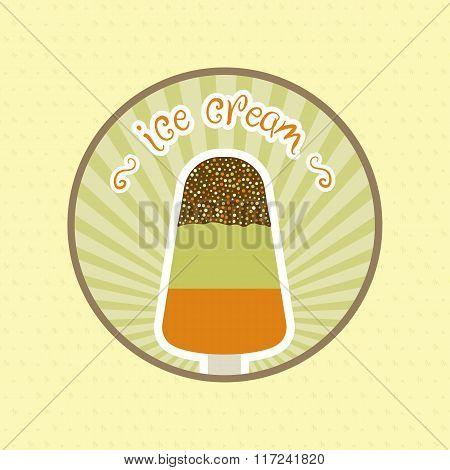 restaurant ice cream menu cover vector design template
