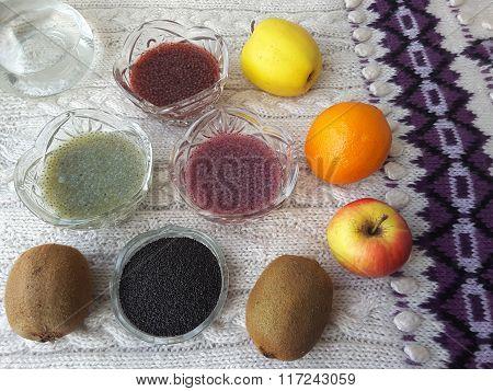 Basil Seeds Dessert, Cooking Vegetarian Healthy Food