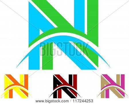 stock logo letters n