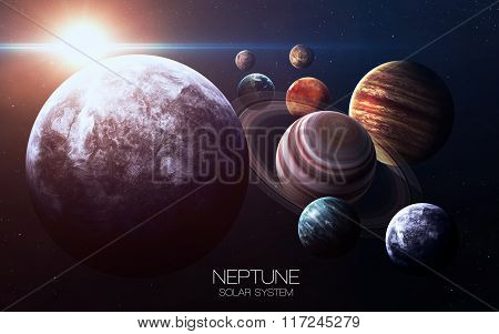 Neptune - High resolution images presents planets of the solar system. This image elements furnished