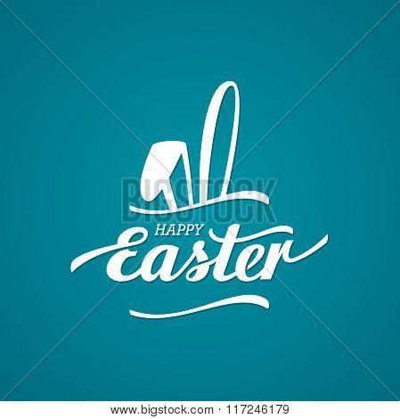 Easter black rabbit