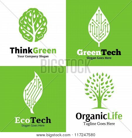 Set Of Ecological Logo, Icons And Design Element