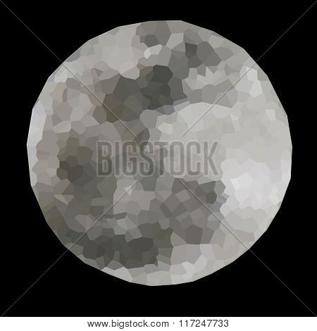 Polygonal illustration of full moon.