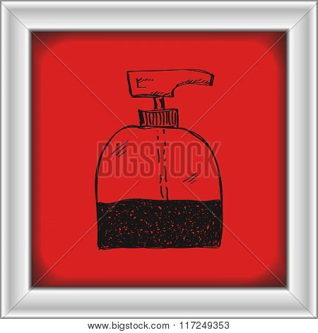 Simple Doodle Of A Soap Dispenser