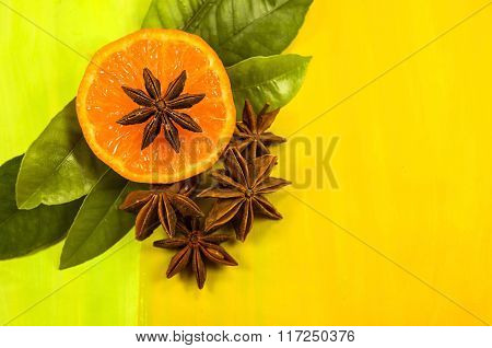 Orange and star anise