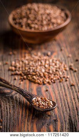Buckwheat Seeds In Spoon