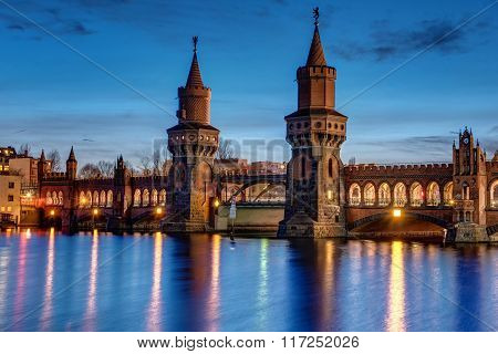 The Oberbaum Bridge in Berlin