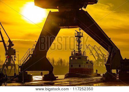 Port At Sunrise
