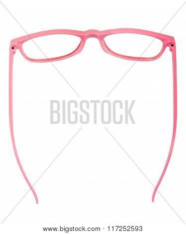 Pair of pink eyeglasses