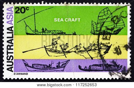 Postage Stamp Australia 1971 Sea Craft