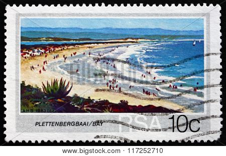Postage Stamp South Africa 1983 Plettenberg Bay, Beach