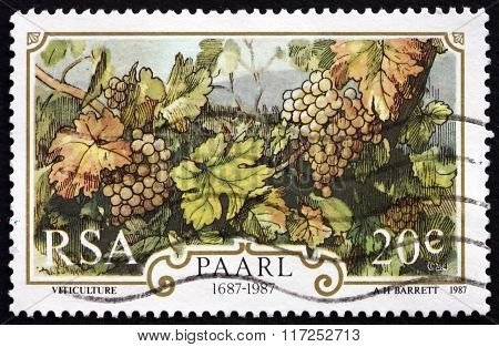 Postage Stamp South Africa 1987 Winegrowing