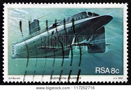 Postage Stamp South Africa 1982 Submarine