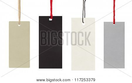 Blank labels isolated on white background