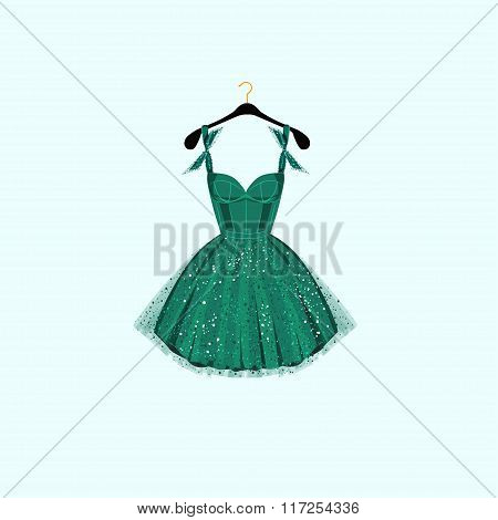 Party dress.Vector illustration