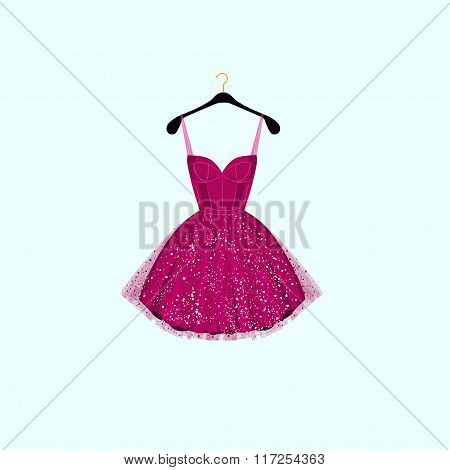Fancy party dress. Vector illustration