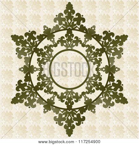 Antique Ottoman Turkish Pattern Vector Design Fourty