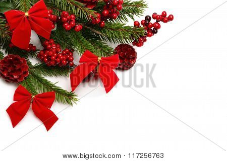 Christmas Decorations In Red Color