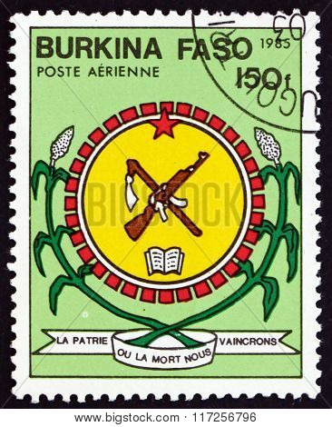 Postage Stamp Burkina Faso 1985 National Arms