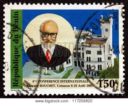 Postage Stamp Benin 2001 Abdus Salam And Building, Cotonou