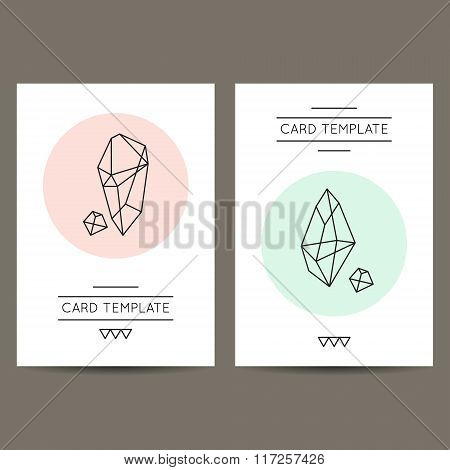 Geometric Shapes Hipster Card Templates