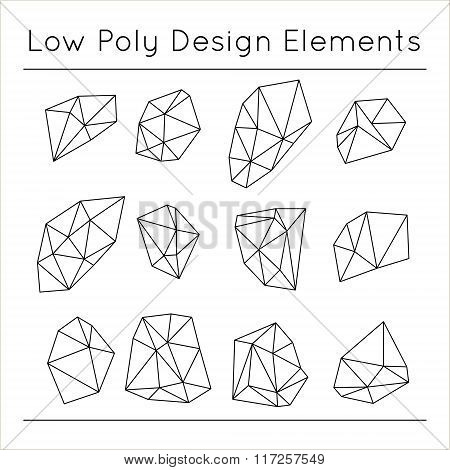 Low Polygonal Design Elements