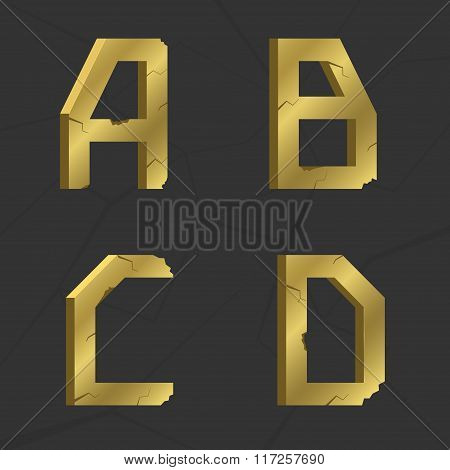 Golden letter set