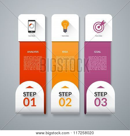 Infographic template with set of marketing icons