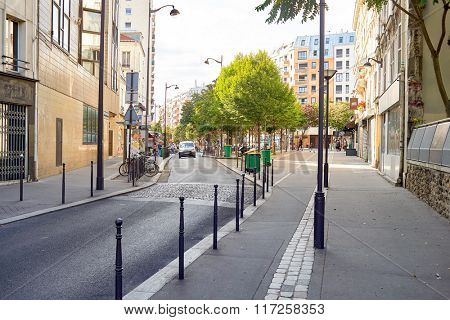 PARIS, FRANCE - AUGUST 10, 2015: Paris streets. Paris, aka City of Love, is a popular travel destination in Europe