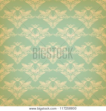 Vector seamless background in vintage style.